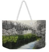 Grayscale The River Weekender Tote Bag