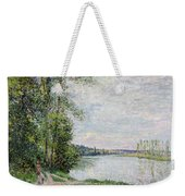 The Riverside Road From Veneux To Thomery Weekender Tote Bag