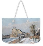 The Road From Gisors To Pontoise Weekender Tote Bag by Camille Pissarro