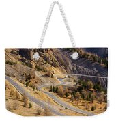 The Road To Izoard Pass - 2 - French Alps Weekender Tote Bag
