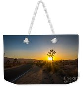 The Road To Joshua Tree At Sunset Weekender Tote Bag
