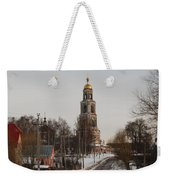 The Road To The Temple In The Early Spring. Weekender Tote Bag