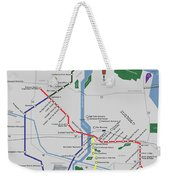 The Rochester Pubway Map Weekender Tote Bag