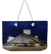 The Rock And Roll Hall Of Fame At Dusk Weekender Tote Bag