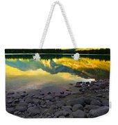 The Rockies Reflected At Lake Annettee Weekender Tote Bag