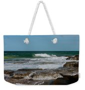 The Rocky Shore Weekender Tote Bag
