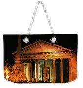 The Roman Pantheon At Night Weekender Tote Bag