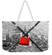 The Romantically Love Inscribed Padlocks On The Eiffel Tower, Pa Weekender Tote Bag