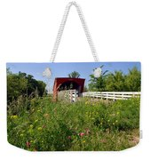 The Roseman Bridge In Madison County Iowa Weekender Tote Bag