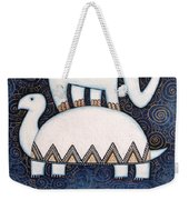 An Elephant On A Turtle Weekender Tote Bag