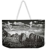 The Rugged Red Rocks In Black And White  Weekender Tote Bag