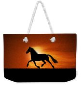 The Running Horse Background Weekender Tote Bag