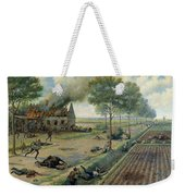 The Russian Cavalry Fighting The Germans In A Village In 1915 Weekender Tote Bag