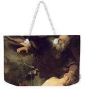 The Sacrifice Of Abraham Weekender Tote Bag by Rembrandt