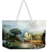 Sailing Boat In The Lake Weekender Tote Bag