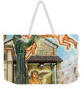 The Saint And The Angels Weekender Tote Bag