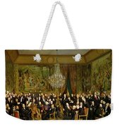 The Salon Of Alfred Emilien At The Louvre Weekender Tote Bag by Francois Auguste Biard