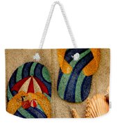 The Sands Of Summer - Flip Flops Weekender Tote Bag