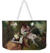 The Scale Of Love Weekender Tote Bag by Jean-Antoine Watteau
