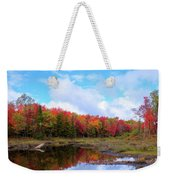 The Scarlet Reds Of Autumn Weekender Tote Bag