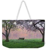 The Schuykill River At Kelly Drive In The Spring Weekender Tote Bag