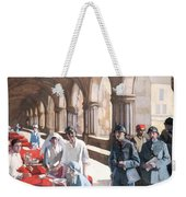 The Scottish Women's Hospital - In The Cloister Of The Abbaye At Royaumont. Weekender Tote Bag