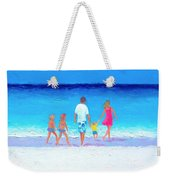 The Seaside Holiday - Beach Painting Weekender Tote Bag