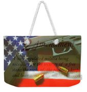 The Second Amendment Weekender Tote Bag