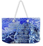 The Second Day With Scripture Weekender Tote Bag