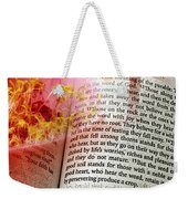 The Seed Is The Word Of God Weekender Tote Bag