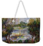 The Seine At Argenteuil Weekender Tote Bag by Pierre Auguste Renoir