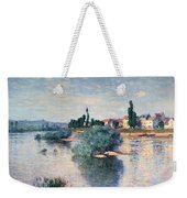 The Seine At Lavacourt Weekender Tote Bag by Claude Monet