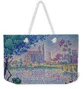 The Seine At Mantes, By Paul Signac, 1899-1900, Kroller-muller M Weekender Tote Bag