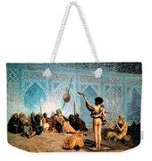 The Serpent Charmer Weekender Tote Bag by Jean Leon Gerome