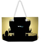 The Setting Sun Silhouettes An Air Weekender Tote Bag