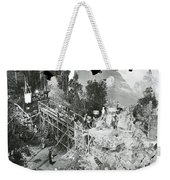 The Sgt. York Set With Director Howard Hawks And Gary Cooper 1941-2016 Weekender Tote Bag