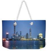 The Shanghai Skyline And Riverfront Weekender Tote Bag