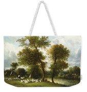 The Shepherd's Break With  His Sheep Weekender Tote Bag