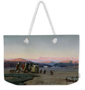 The Shepherds Led By The Star Arriving At Bethlehem Weekender Tote Bag by Octave Penguilly lHaridon