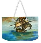 The Ship Plying On The River Weekender Tote Bag