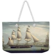 The Ship -favorite-maneuvering Off Greenock Weekender Tote Bag
