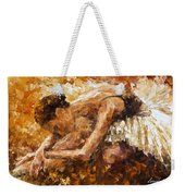 The Show Must Go On - Palette Knife Oil Painting On Canvas By Leonid Afremov Weekender Tote Bag