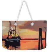 The Shrimp Boat Weekender Tote Bag