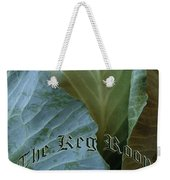 The Shy Cabbage The Keg Room Old English Hunter Green Weekender Tote Bag