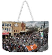 The Sights And Sounds Of Sxsw Are Enormous From 6th Street As Thousands Of Revelers Fill The Streets Weekender Tote Bag