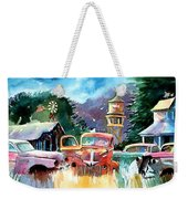 The Sign Of The Fish On The Watertower Weekender Tote Bag