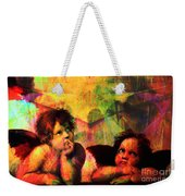 The Sistine Modonna Baby Angels In Abstract Space 20150622 Weekender Tote Bag