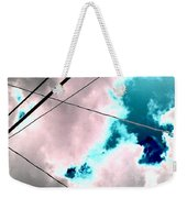 the sky...She came to me  Weekender Tote Bag