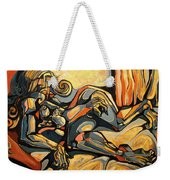 The Sleeping Muse Weekender Tote Bag
