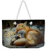 The Sleepy Fox Weekender Tote Bag